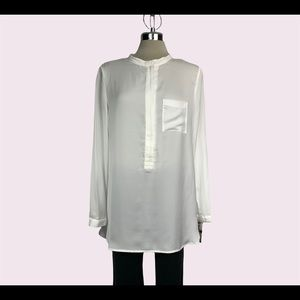 Modismo white large silk blouse size L
